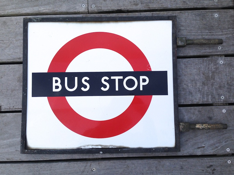 Rare 1930 S London Bus Stop Clo20c
