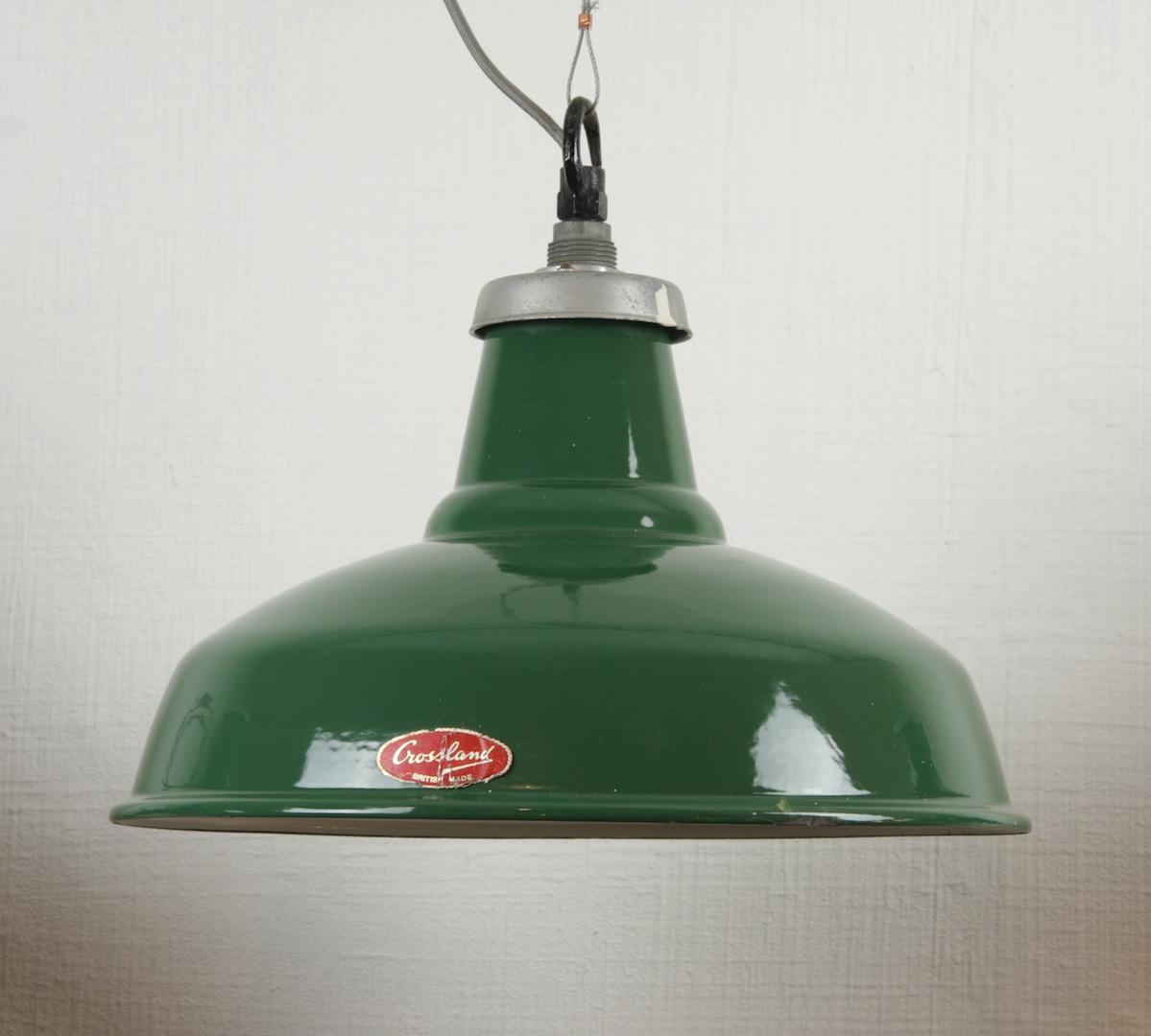 Hoover Industrial Pendant Light: Crossland Enamel Industrial Lights, Suspensions Emaillées