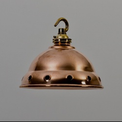 Striking small copper and brass lights